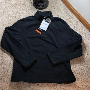 NWT 1/4 Zip Black Land's End Fleece - Large
